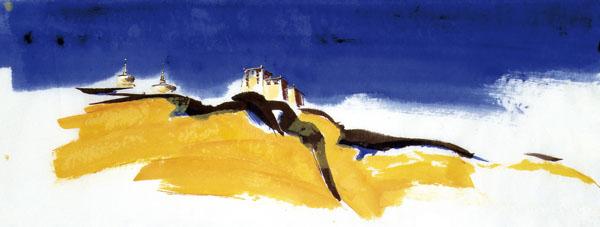 Peinture de paysage à l'encre