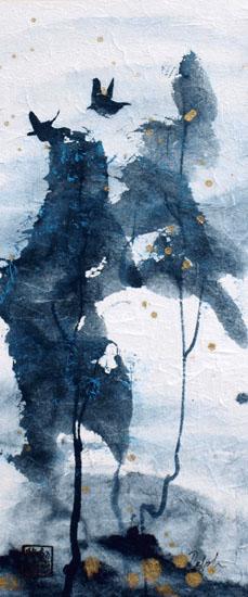 Peinture d'arbres et d'oiseaux