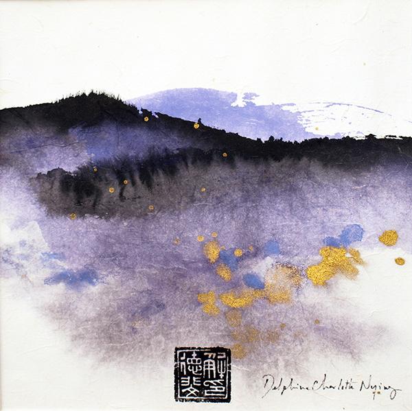 Peinture Encre et pigments paysage