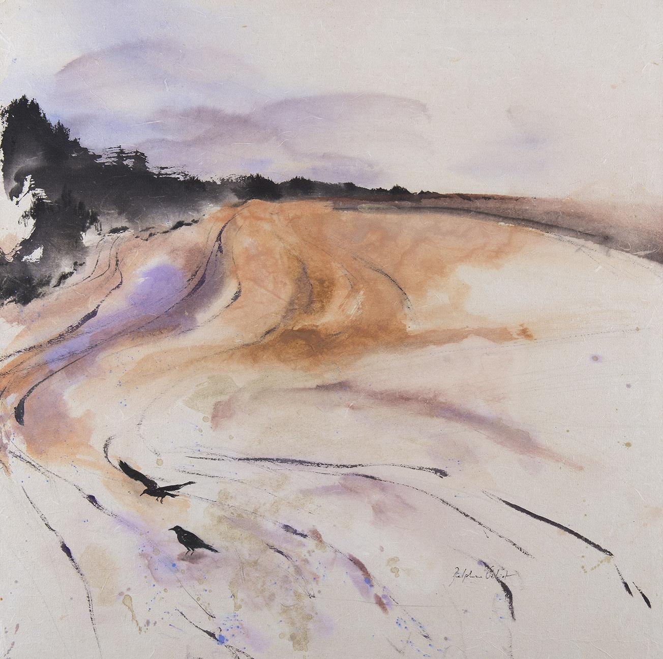 Encre et pigments paysage