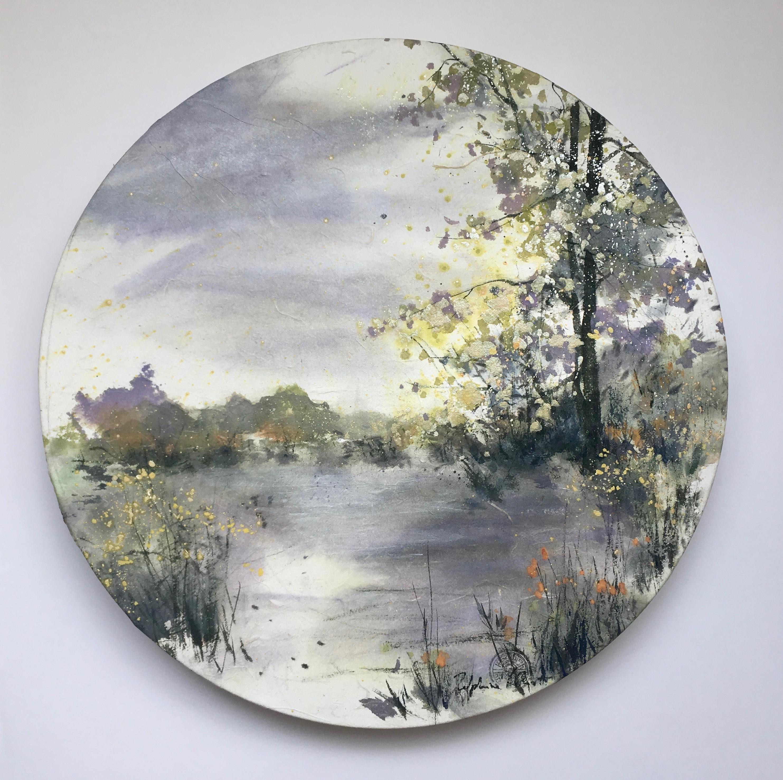 Peinture de Chine, encre et pigments sur papier et châssis
