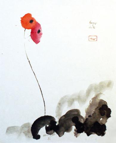 Peinture de fleurs
