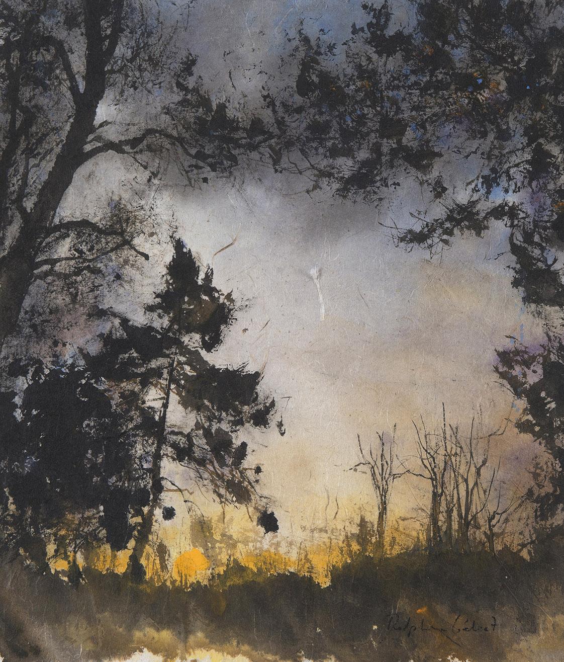 Encre et pigments paysages forêt