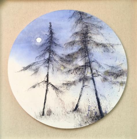 Delphine Geliot artiste peintre, encre et pigments sur papier