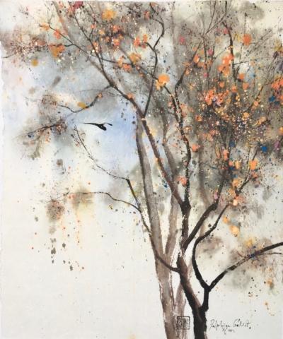 Peinture de Chine, encre et pigments sur papier