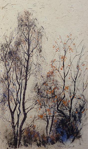 Encre et pigments paysages étoilés Delphine Géliot